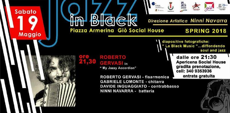 Musica, jazz: Roberto Gervasi a Piazza Armerina il 19 maggio