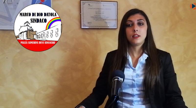 """Elezioni comunali, spazio video autogestito. Dichiarazione di Ilenia Pecoraro lista """"Marco Di Dio Datola Sindaco"""" [VIDEO]"""
