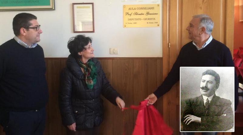 Intitolata all'onorevole professor Silvestro Graziano l'aula consiliare del comune di Troina