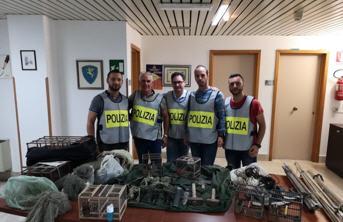 Polizia di Stato a caccia di bracconieri. Sette cardellini tornano in libertà