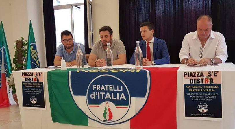 Fratelli d'Italia in campo per Piazza Armerina e per il centrodestra unito