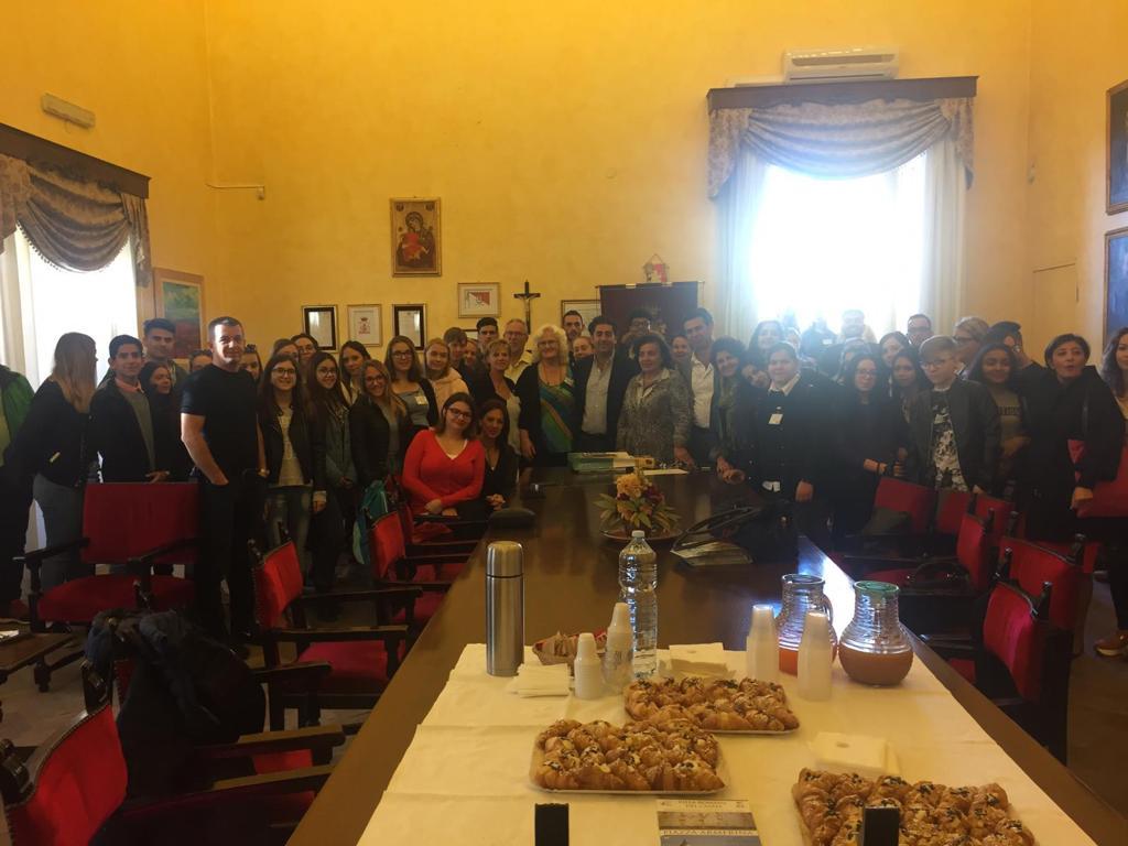 Piazza Armerina – Studenti da tutta Europa salutati dall'assessore Ettore Messina