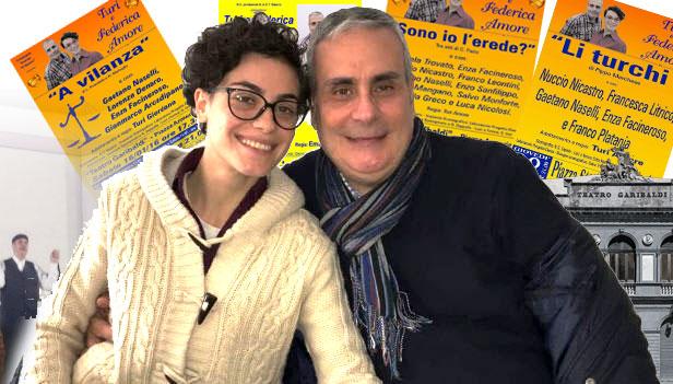 """Sabato al teatro Garibaldi """"Baciati dalla fortuna"""" con Turi e Federica Amore"""