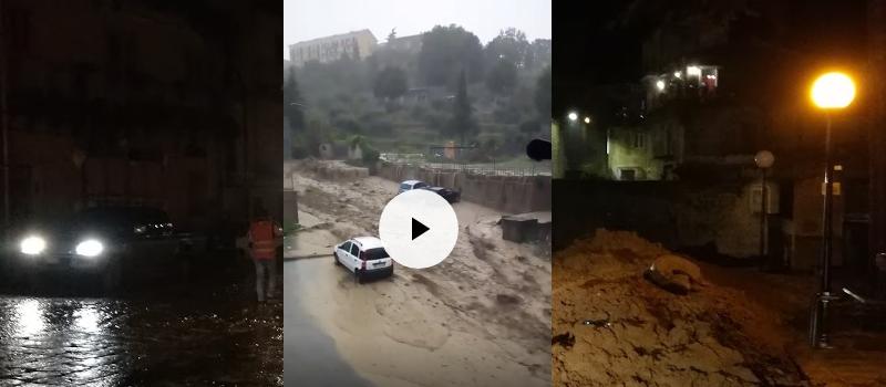 Piazza Armerina, maltempo – Disastro ai Canali : le immagini in  un video