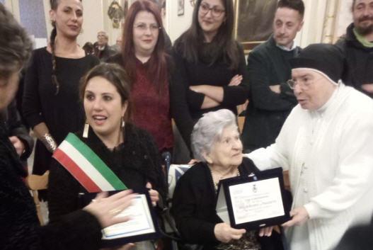 Valguarnera: la sigora Grazia compie cento anni