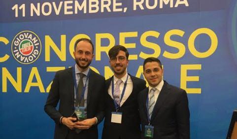 I giovani del movimento di Forza Italia presenti al congresso di Roma