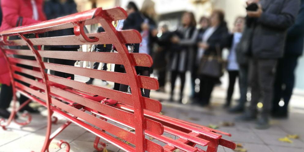 Piazza Armerina, Fidapa: una panchina rossa per ricordare l'orrore della violenza di genere.