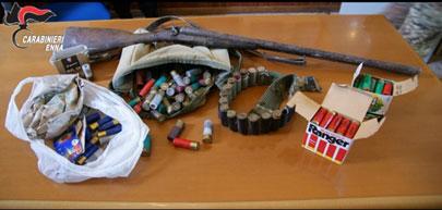 Nicosia, nascondeva fucile e munizioni nella propria azienda agricola; allevatore arrestato dai Carabinieri.