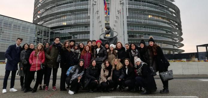 Gli studenti del classico e dello scientifico di Piazza Armerina a Strasburgo per il progetto Euroscuola