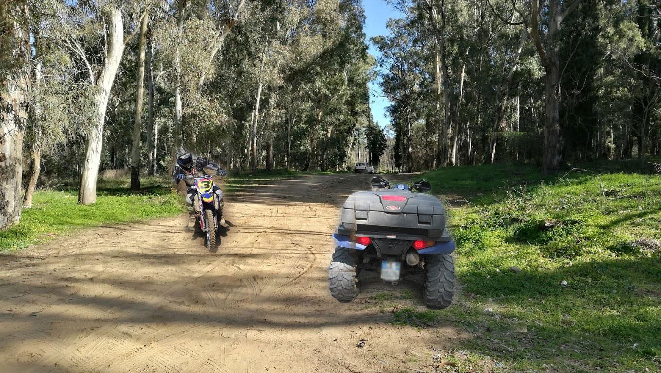 Difendiamo il bosco Bellia: via motociclette e quad