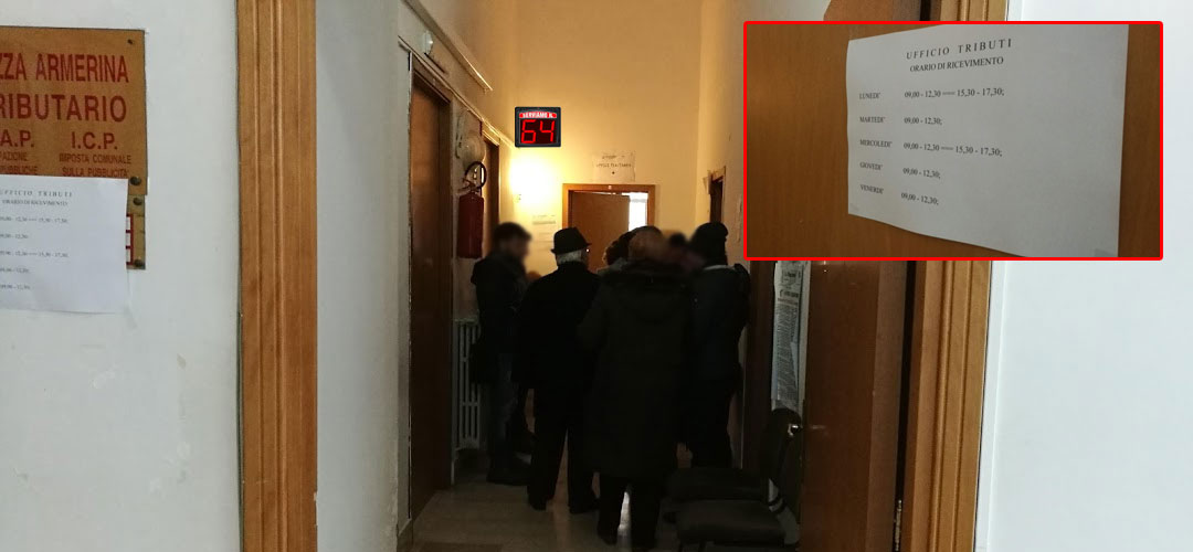 Piazza Armerina,  Ufficio Tributi – La richiesta del pubblico: un sistema eliminacode