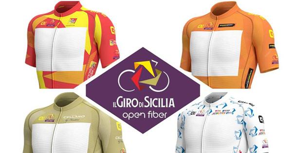 Verranno presentate martedì 2 aprile le quattro maglie ufficiali del Giro di Sicilia,