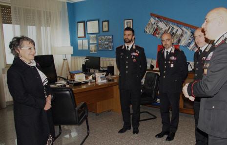 Enna, visita istituzionale di S.E. il Prefetto della Provincia di Enna al Comando Provinciale dei Carabinieri.