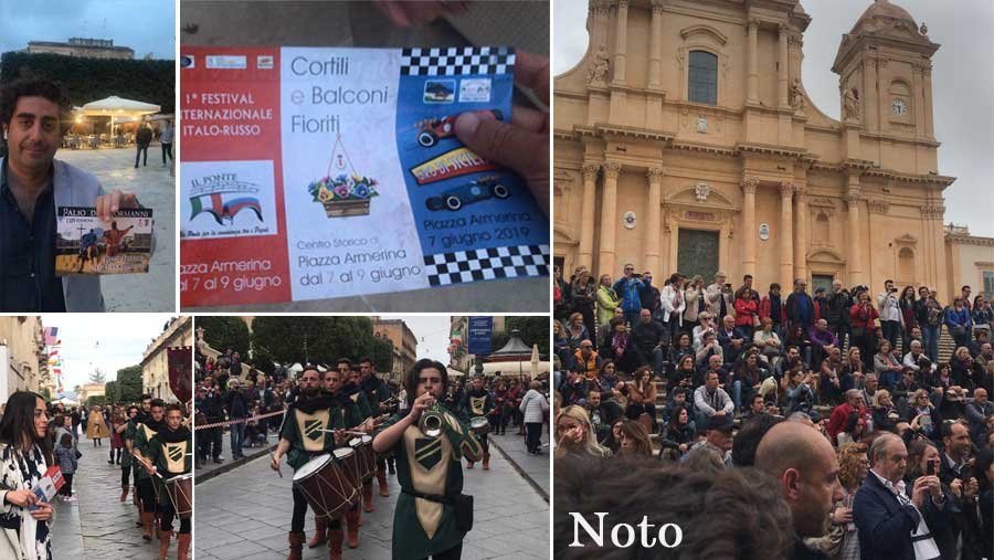 Turismo – Piazza Armerina si pubblicizza a Noto e questa mattina 150 croceristi in arrivo al centro storico.
