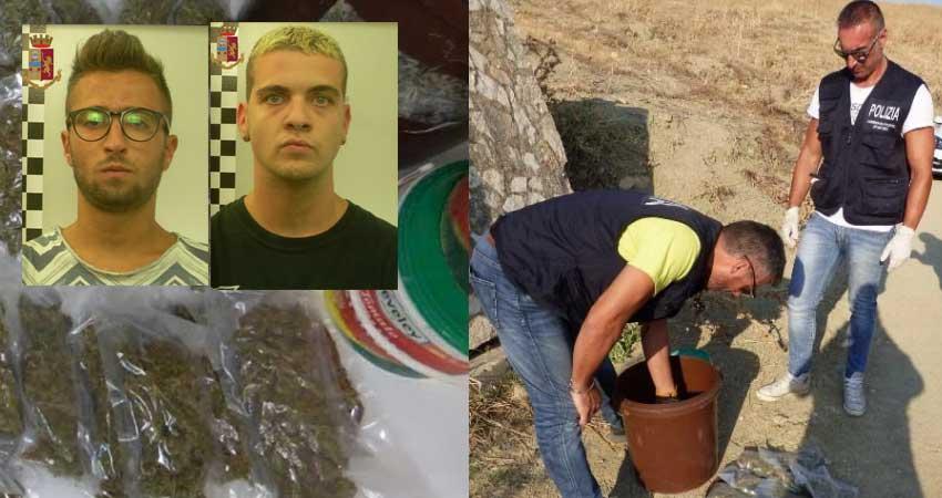 Bloccati dai poliziotti tre giovani di Leonforte ed Assoro trovati in possesso oltre 1,7 kg di marijuana