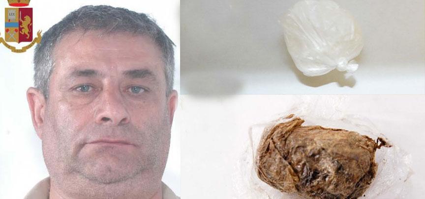 Dittaino – arrestato un uomo trovato in possesso di cocaina e hashish