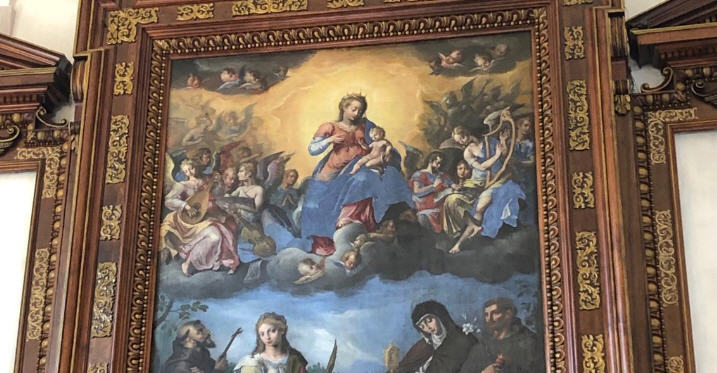 Enna – Torna a splendere nella chiesa dei Cappuccini la pala d'altare del XVII secolo