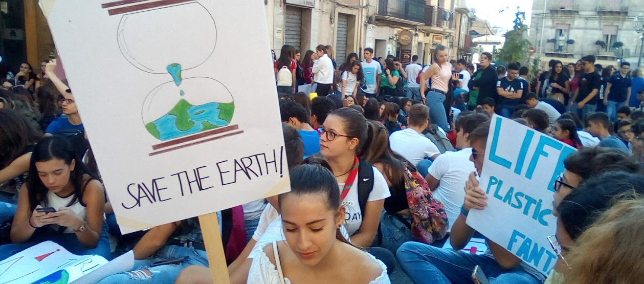 Piazza Armerina – Fridays for future: la manifestazione degli studenti