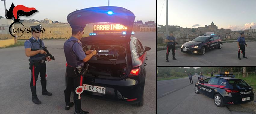 Carabinieri: a Piazza Armerina serrati controlli sulla circolazione stradale