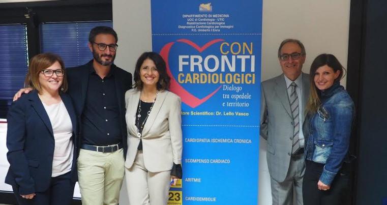 ASP Enna. Cardiologia. Dialogo tra ospedale e territorio.Luci puntate sul cuore dei malati oncologici