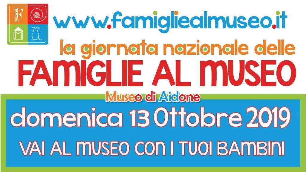 """Il museo di Aidone partecipa alla giornata nazionale delle """"famiglie al museo"""" del 13 ottobre"""
