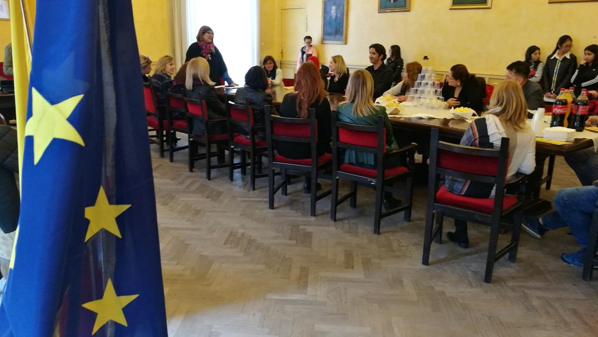 A Piazza Armerina insegnanti del progetto Erasmus ricevuti in municipio