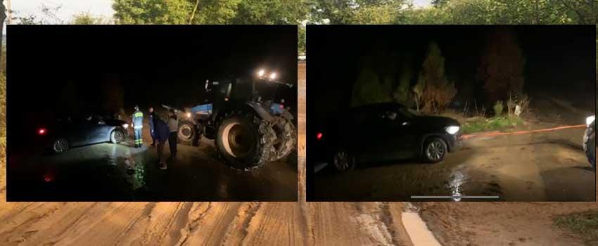 I carabinieri e vigili del fuoco salvano due uomini rimasti impantanati con la propria auto