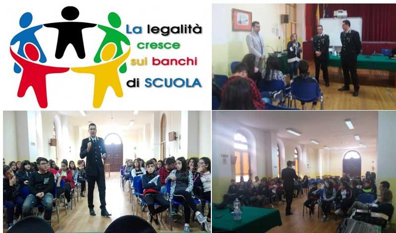 Carabinieri nelle scuole con l'obiettivo di sensibilizzare gli studenti sulle tematiche legate alla legalità