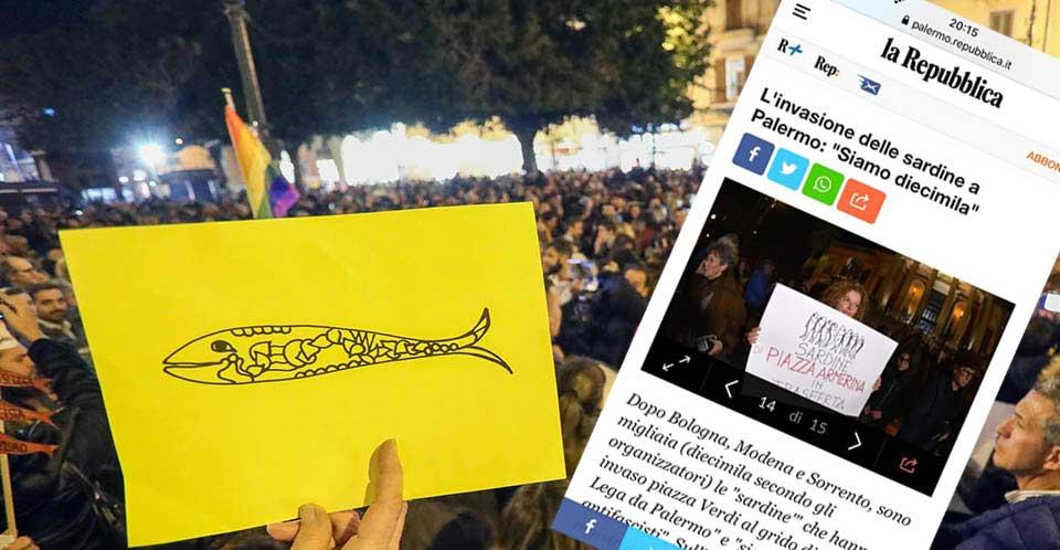 """Anche le """"Sardine"""" di Piazza Armerina in trasferta a Palermo"""
