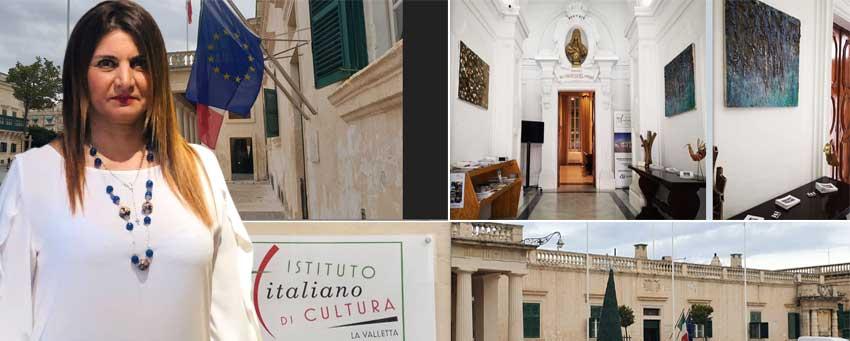 La piazzese Danila Mancuso espone le sue opere all'Istituto Italiano di Cultura a La Valletta