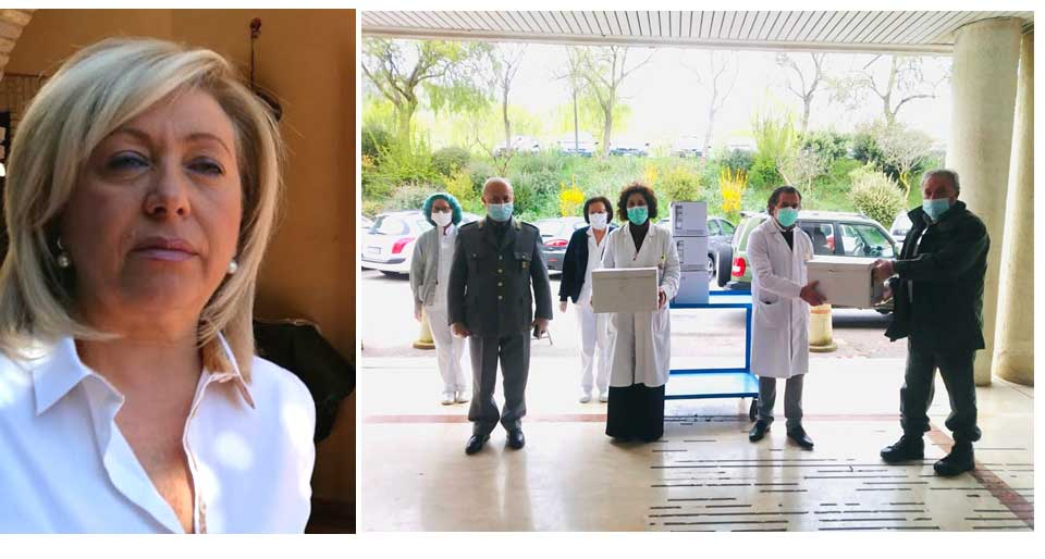 L'on. Luisa Lantieri dona duemila mascherine agli ospedali ennesi.