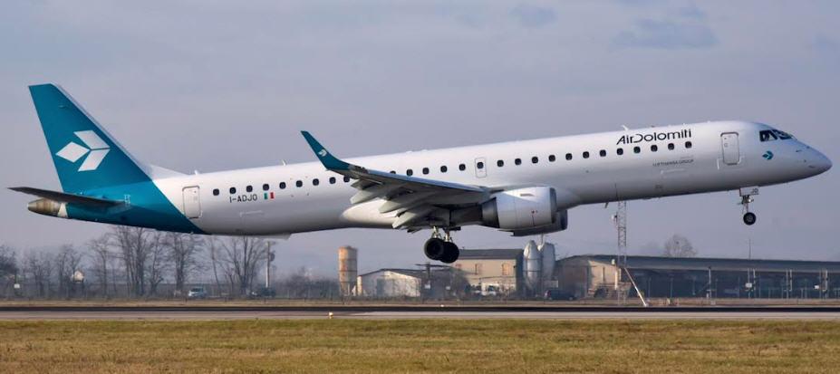 Air Dolomiti riparte dall'Italia: da giugno si volerà a Firenze da Catania e Palermo
