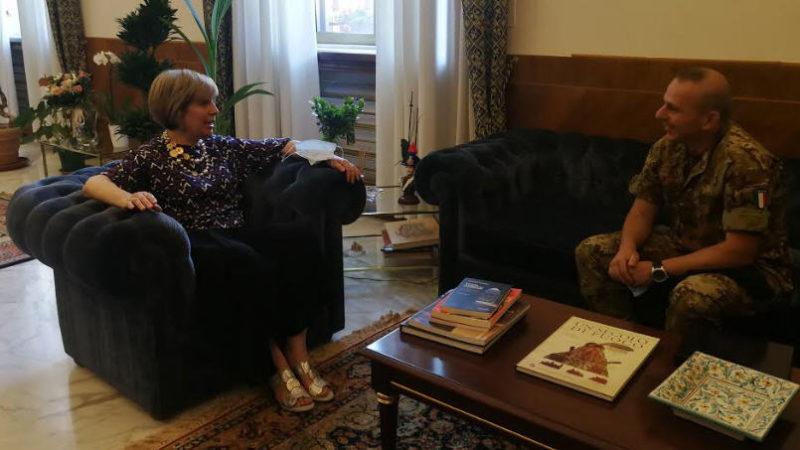 """Il Prefetto incontra il Comandante del 62° Reggimento Fanteria """"Sicilia"""""""