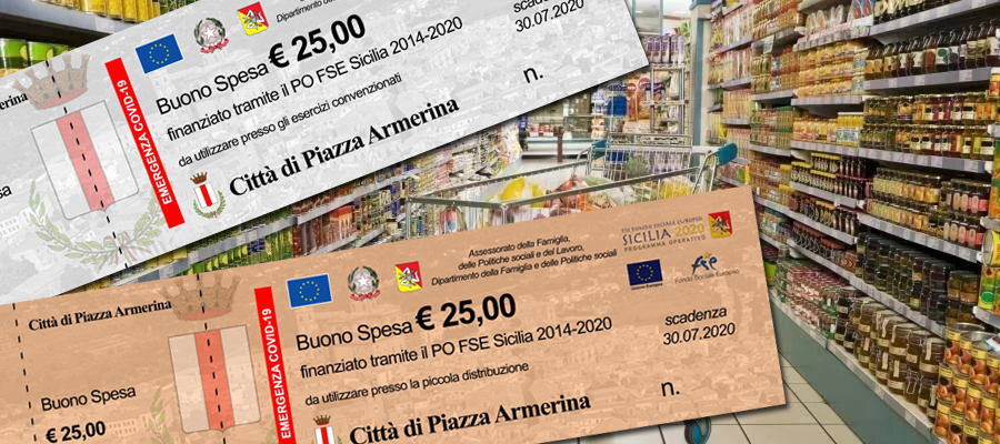 Piazza Armerina – Buoni spesa comunali: domani la consegna in in via Gen. Ciancio,1