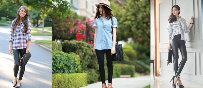 Moda- I leggings si indossano con la camicia: come essere comode con gli abbinamenti di tendenza