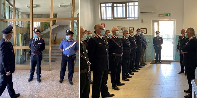 """Enna –  Visita  Comando Provinciale Carabinieri  del Gen. Giovanni Cataldo, comandante della Legione Carabinieri """"Sicilia"""""""