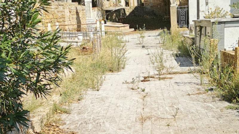 Piazza Armerina – L'ingresso del cimitero di Santa Maria di Gesù va ripulito dalle erbacce