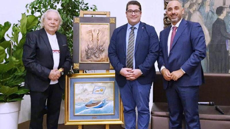 """Al sindaco Fabio Venezia il premio """"Amico dell'arte"""""""