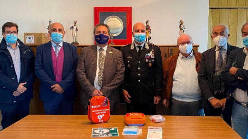 Consegnati attestati corso blsd e un defibrillatore al comando provinciale carabinieri di Enna