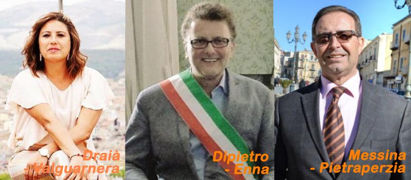 ELezioni: Dipietro riconfermato a Enna, La Draià a Valguarnera. Messina eletto a Pietraperzia.