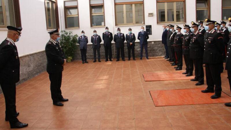 Il Generale di Brigata Rosario Castello,nuovo Comandante della Legione Carabinieri Sicilia,  in visita al Comando Provinciale di Enna