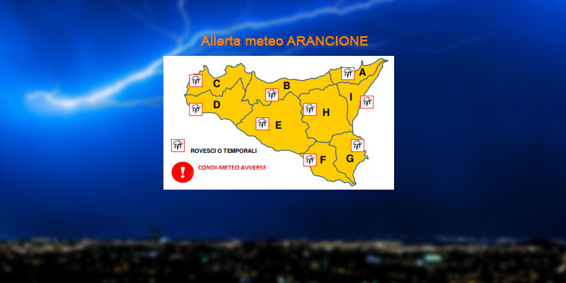Protezione Civile: domani allerta arancione in Sicilia