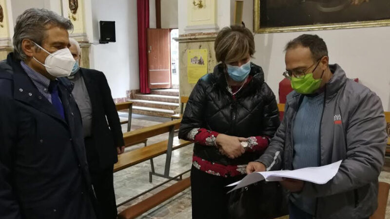 Fondo Edifici di Culto del Ministero dell'Interno: consegna lavori alla Chiesa del Carmine di Enna