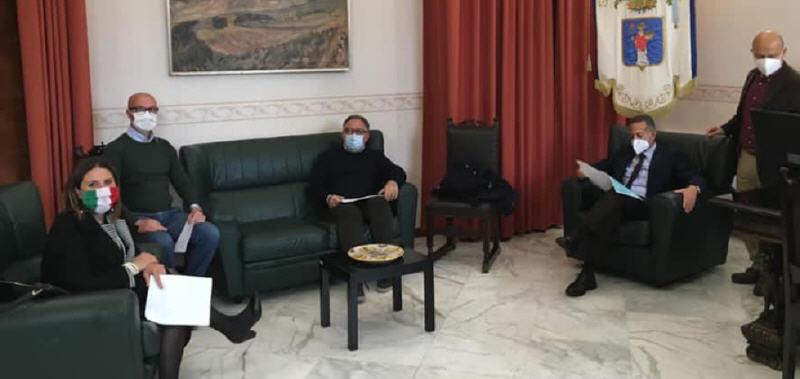 Il sindaco di Valguarnera, Francesca Draià, ricevuta dal commissario Di Fazio per parlare di viabilità