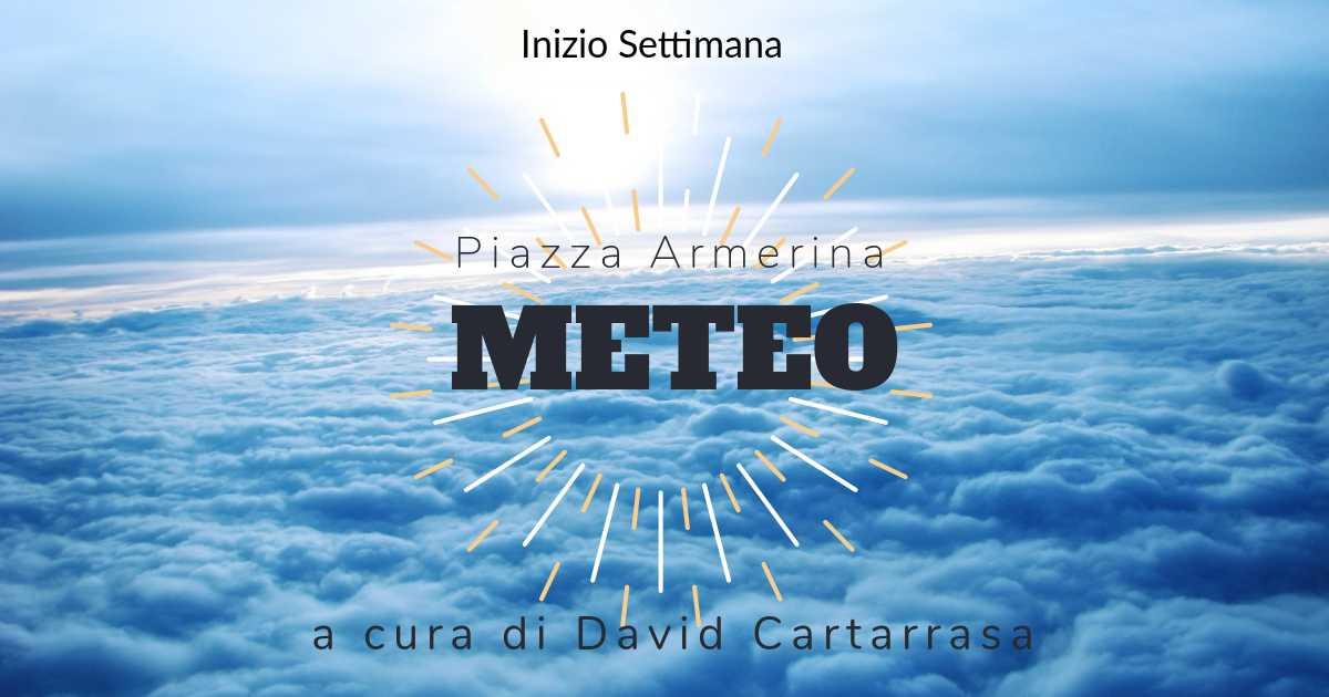 Meteo Piazza Armerina : inizio settimana movimentato tra nuvole e piogge.
