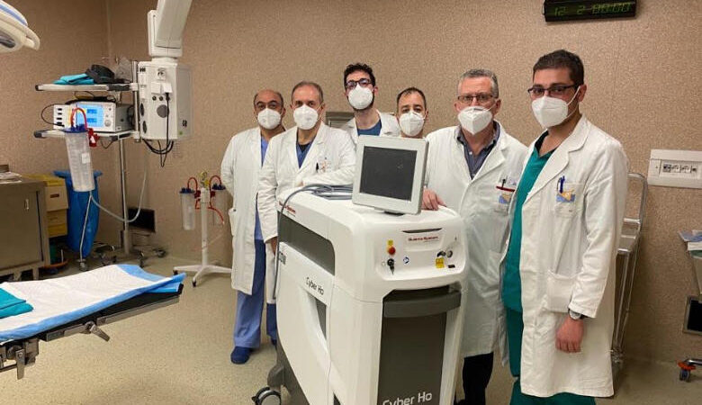 Nuovo sistema laser a olmio per il Reparto di Urologia dell'Umberto I