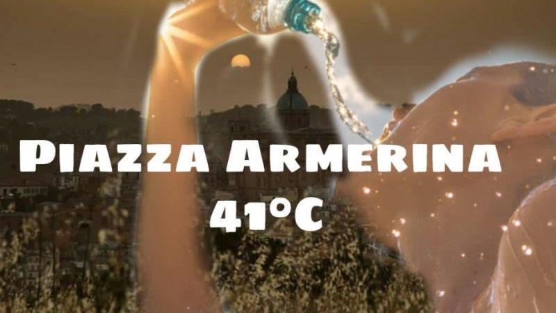 Piazza Armerina: il termometro tocca i 41°C.