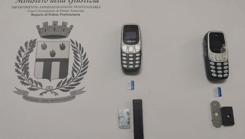 Piazza Armerina – Casa circondariale: ritrovati in dieci giorni quattro mini cellulari nelle celle dei detenuti