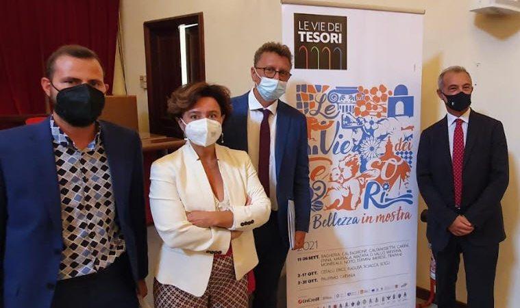 """Enna – Conferenza stampa di presentazione de """"Le Vie dei Tesori"""", manifestazione che si svolgerà ad Enna dall'11 al 26 settembre."""